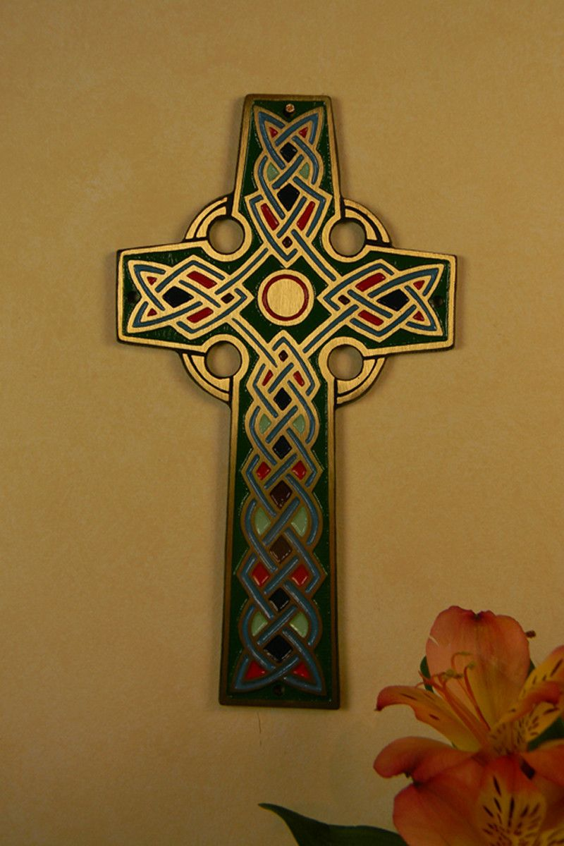 Bronze celtic wall cross walls metal embossing and patterns