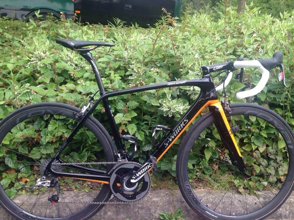 Nicolas Roche his S-Works Tarmac for the tour the france was develloped by Specialized in collaboration with McLearen
