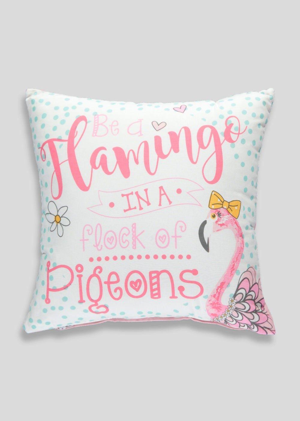 Flamingo Slogan Cushion 35cm X 35cm Matalan Slogan