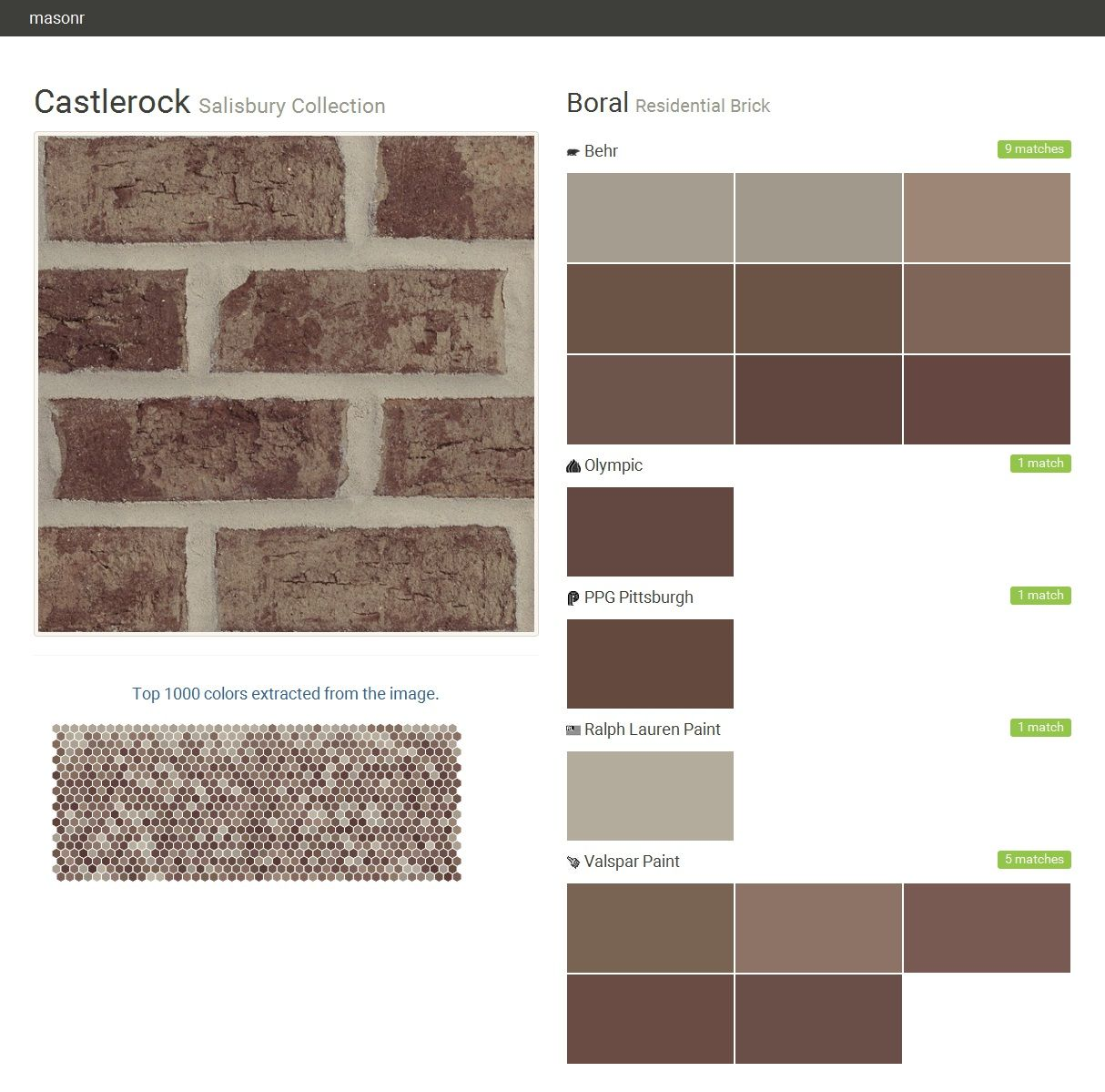 Ralph Lauren Paint Colors castlerock. salisbury collection. residential brick. boral. behr