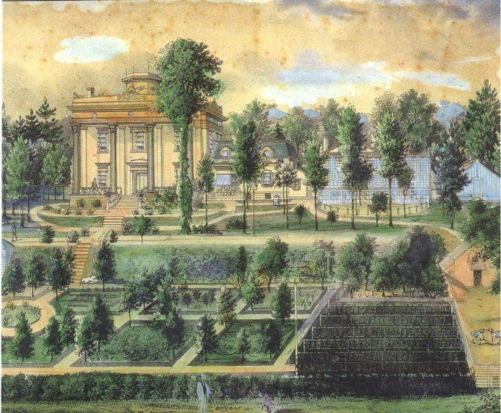Early American Gardens 18th Century American Terraced Or Falling
