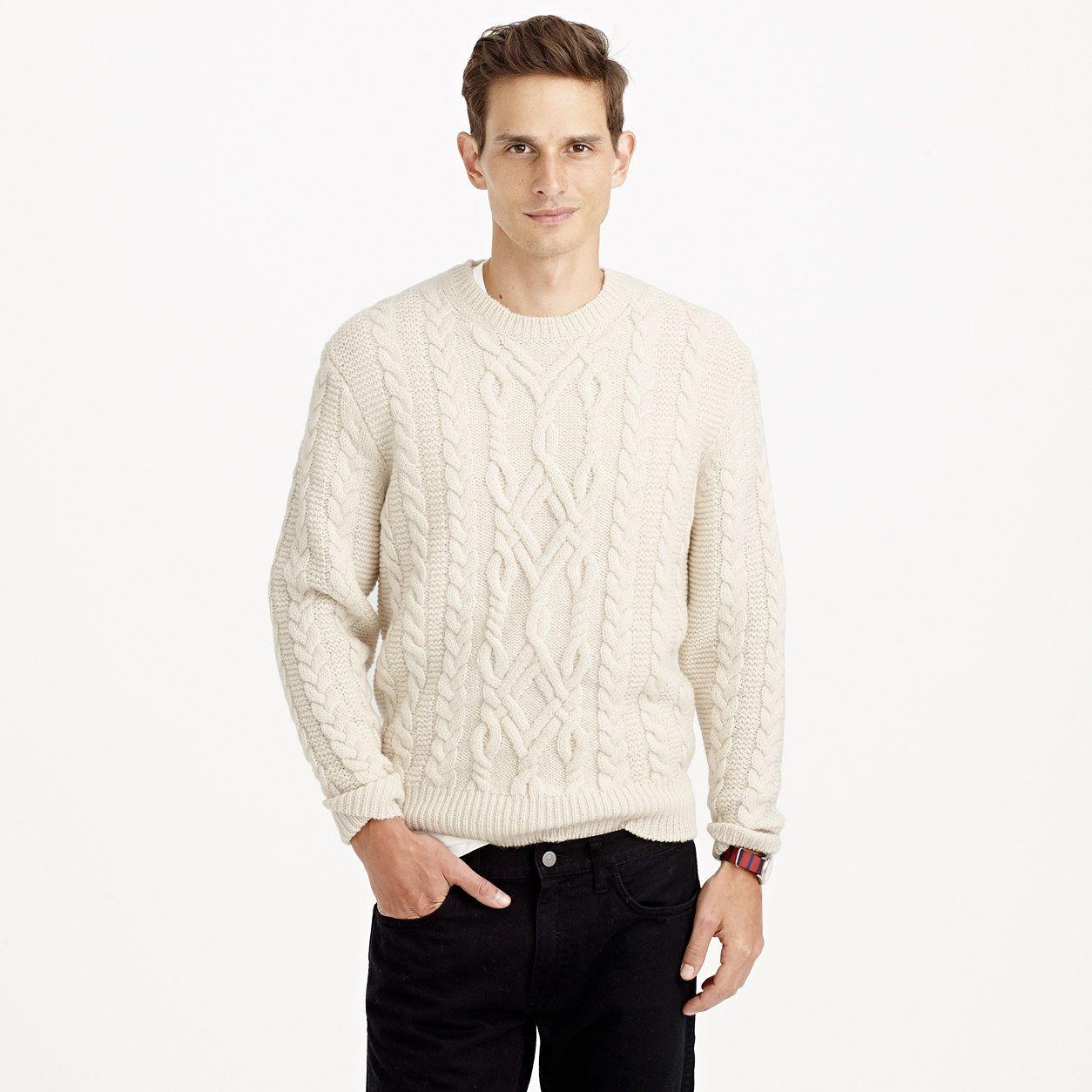 107e2cc7da3 Wallace   Barnes Shetland wool fisherman sweater   wallace   barnes ...