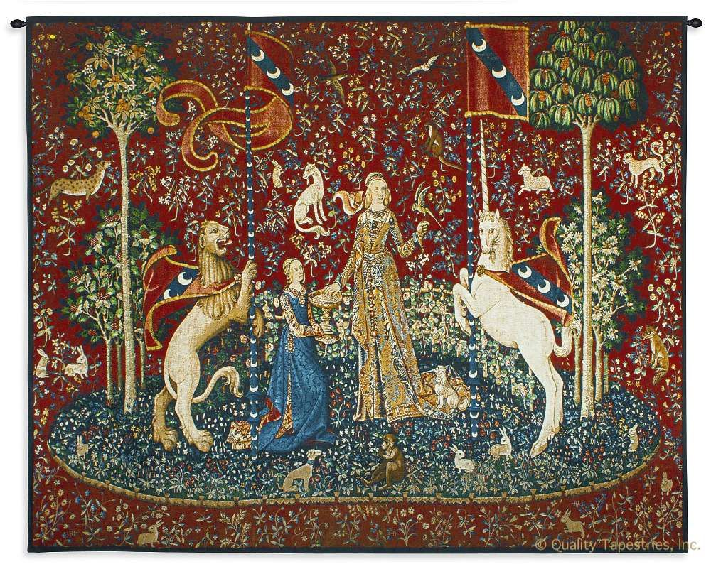Lady and the Unicorn Sense of Taste Wall Tapestry