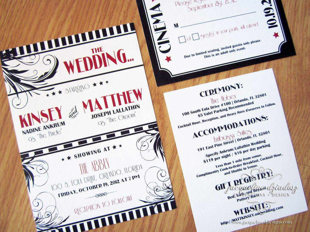 Jacqueline Dziadosz, Invitations & Design: Kinsey & Matthew\'s Old ...