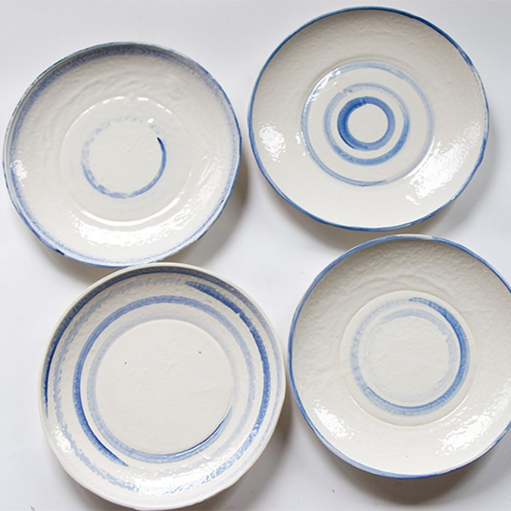 Frances Palmer Pottery: Grecian Dinner Plate, Hand Made White ...