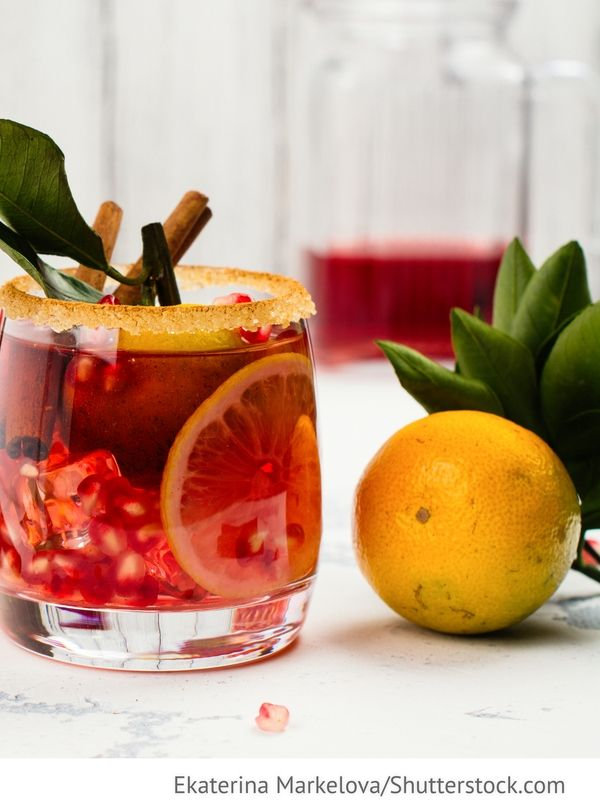 Citrus Cocktail, Orange mit Granatapfel Zitrusovyj koktejl ...