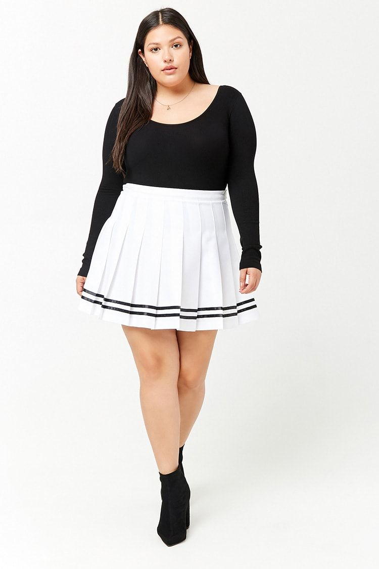 6aafaf320a Product Name Plus Size Pleated Tennis Skirt