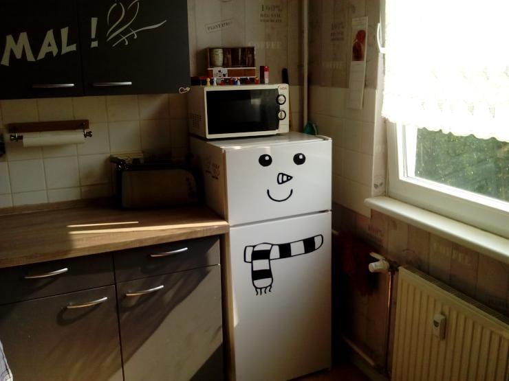 Kühlschrank als Schneemann: Möbliertes 16qm Zimmer in ruhiger Lage ...