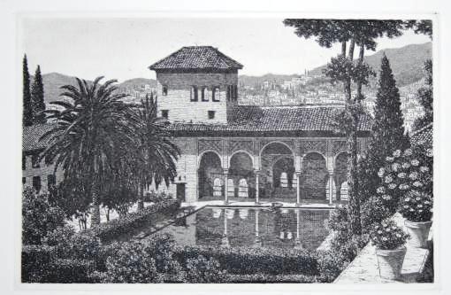 Jardines del partal generalife alhambra grabados andaluces decoraci n rabe la alhambra y - Residencia los jardines granada ...