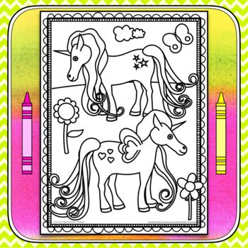 Magical Unicorns Coloring Page | Unicorn coloring pages ...