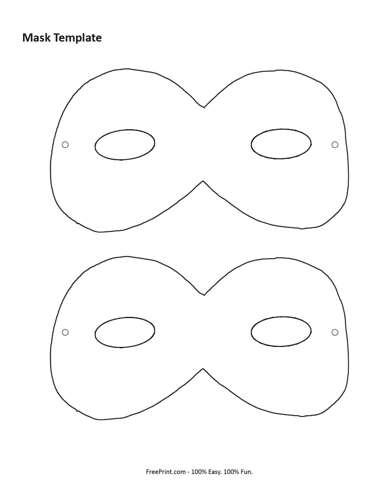 Customize Your Free Printable Mask Template | Manualidades | Pinterest