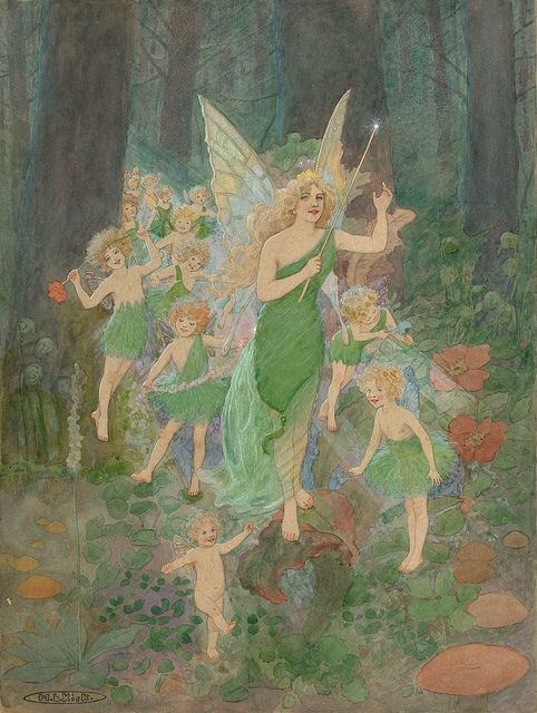 "MARIE LOUISE KIRK, ""Titania and her train""  
