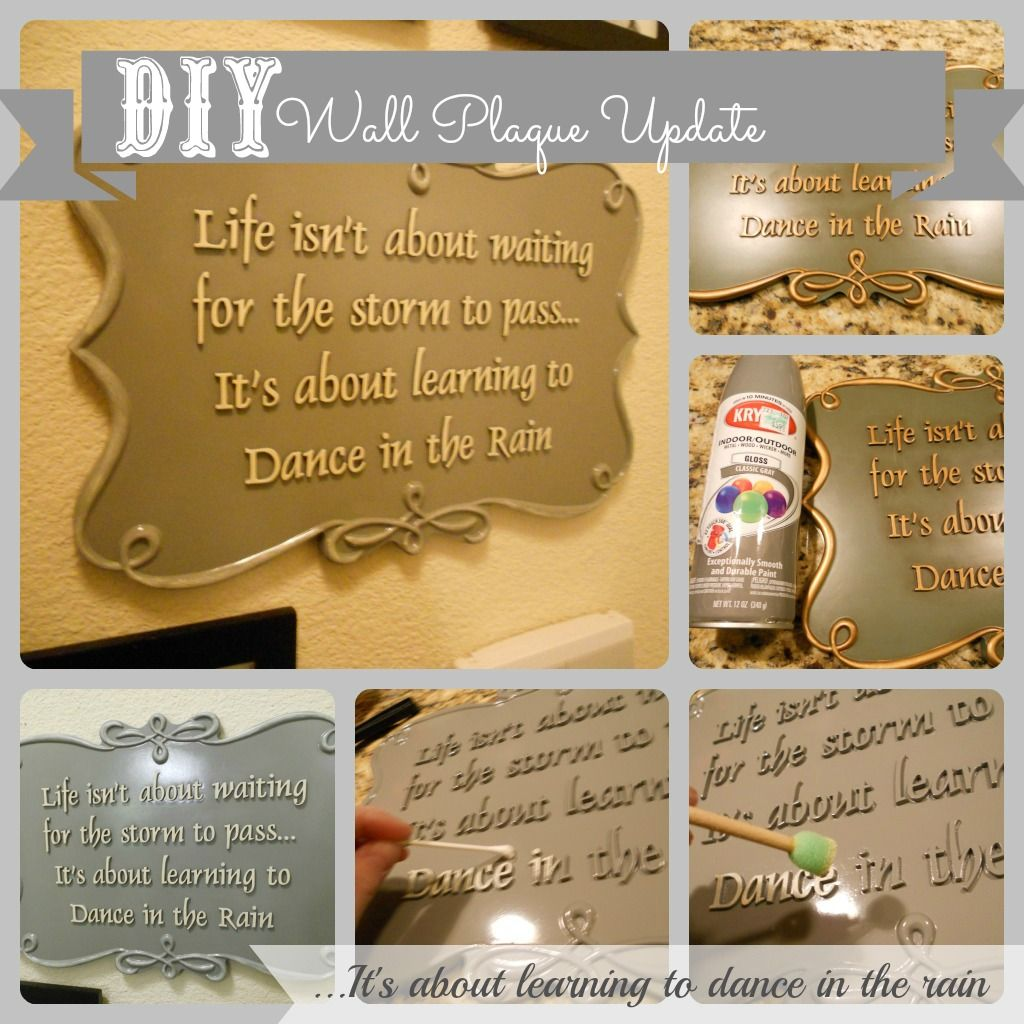 Easy DIY Wall Plaque Update- redo ugly cheap store bought plaque to ...
