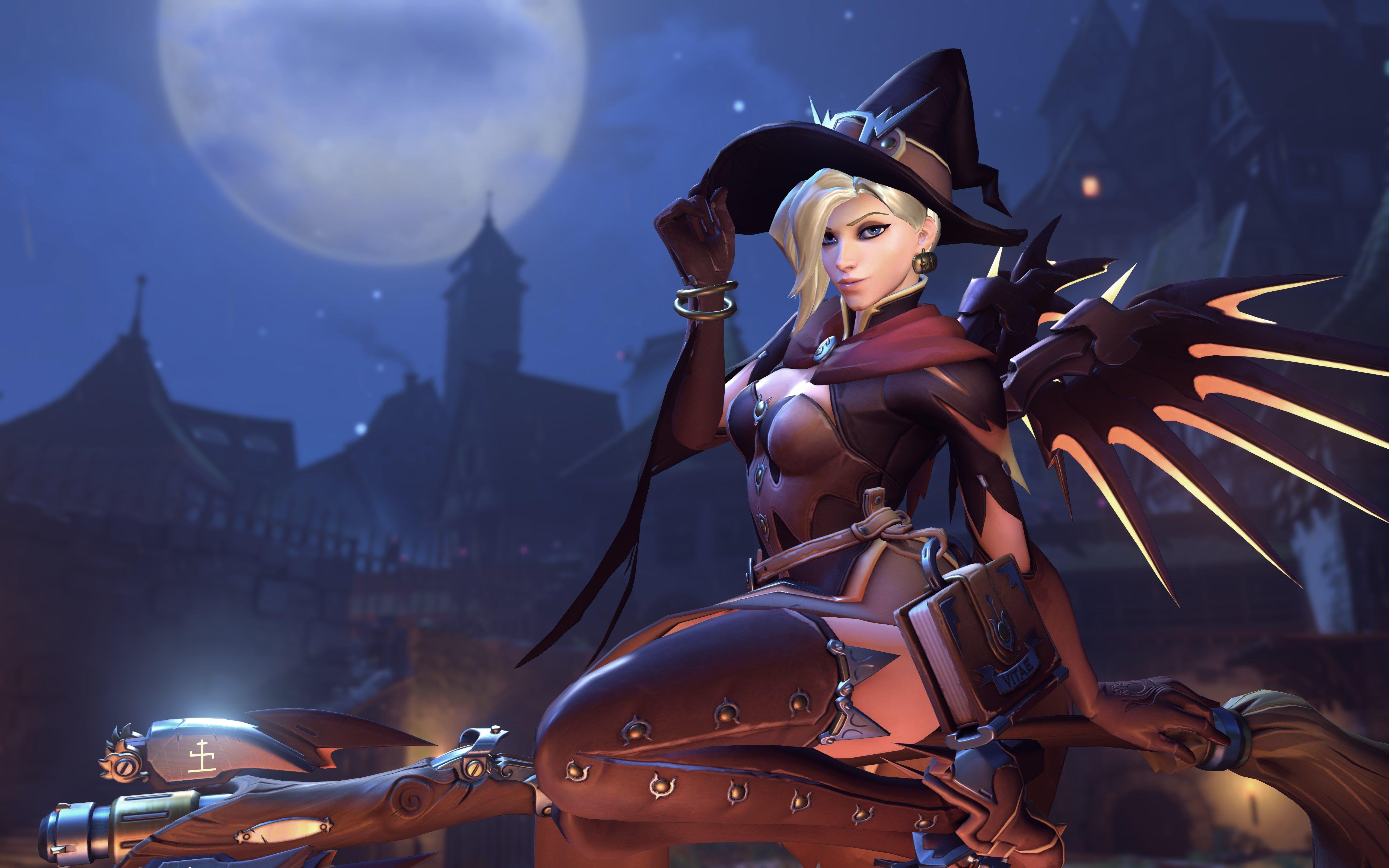 Overwatch Halloween Wallpaper 2020 Video Game Overwatch Halloween Mercy (Overwatch) Wallpaper in 2020