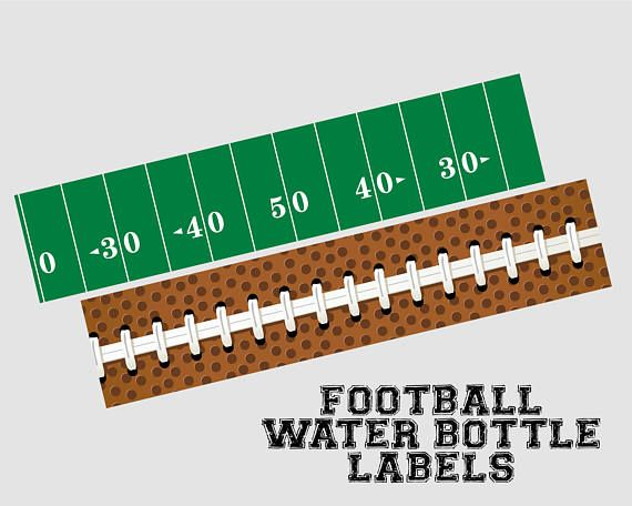 Football Water Bottle Labels. Printable Water Bottle ...