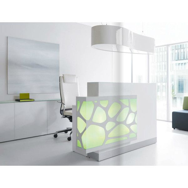 Ultra Modern Reception Desk Found On Polyvore Featuring Home
