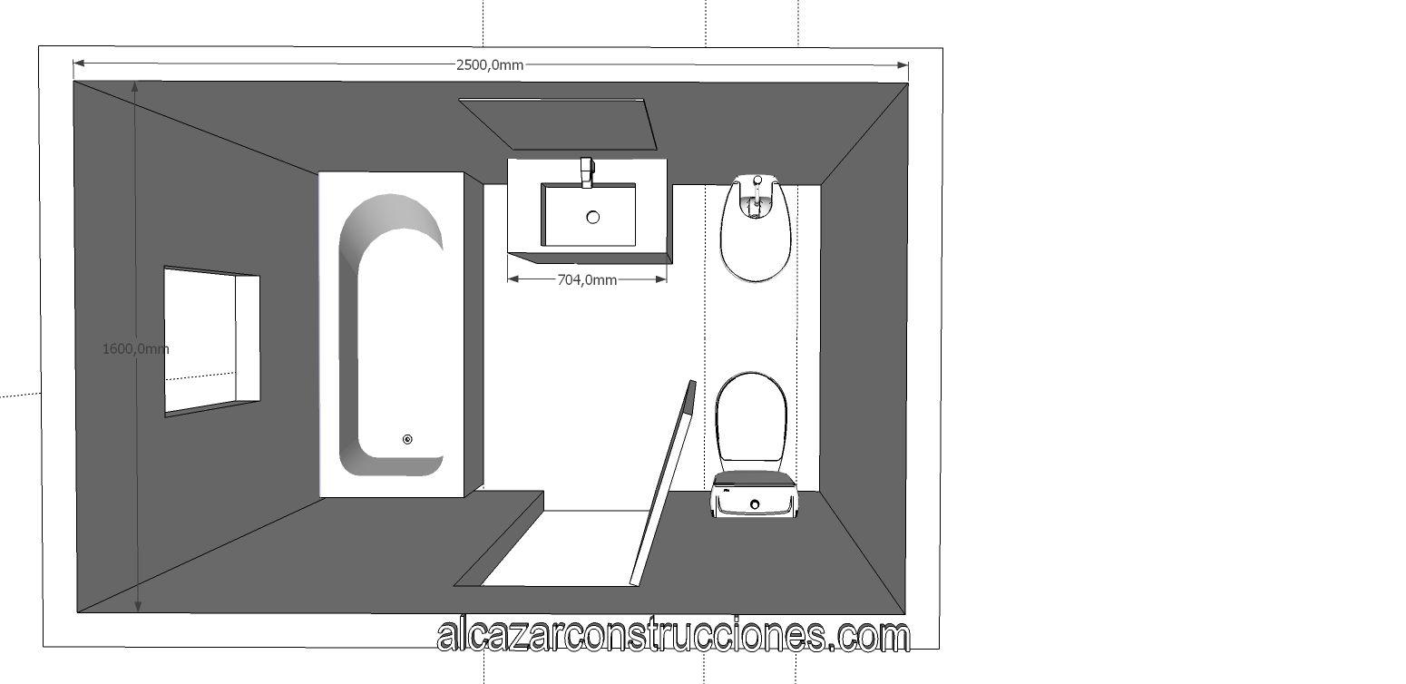 Ba os chicos planos buscar con google monoambiente for Planos de cuartos de bano pequenos