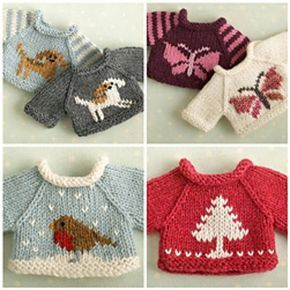 A Simple Sweater, 3 ways pattern by Julie Williams #knittedtoys