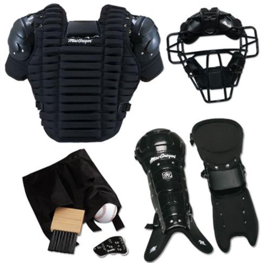 Baseball Umpire Equipment Complete Set Chest Protector Mask Leg Guard Brush Gear Softball Accessories Baseball Player Costume Gear Sets