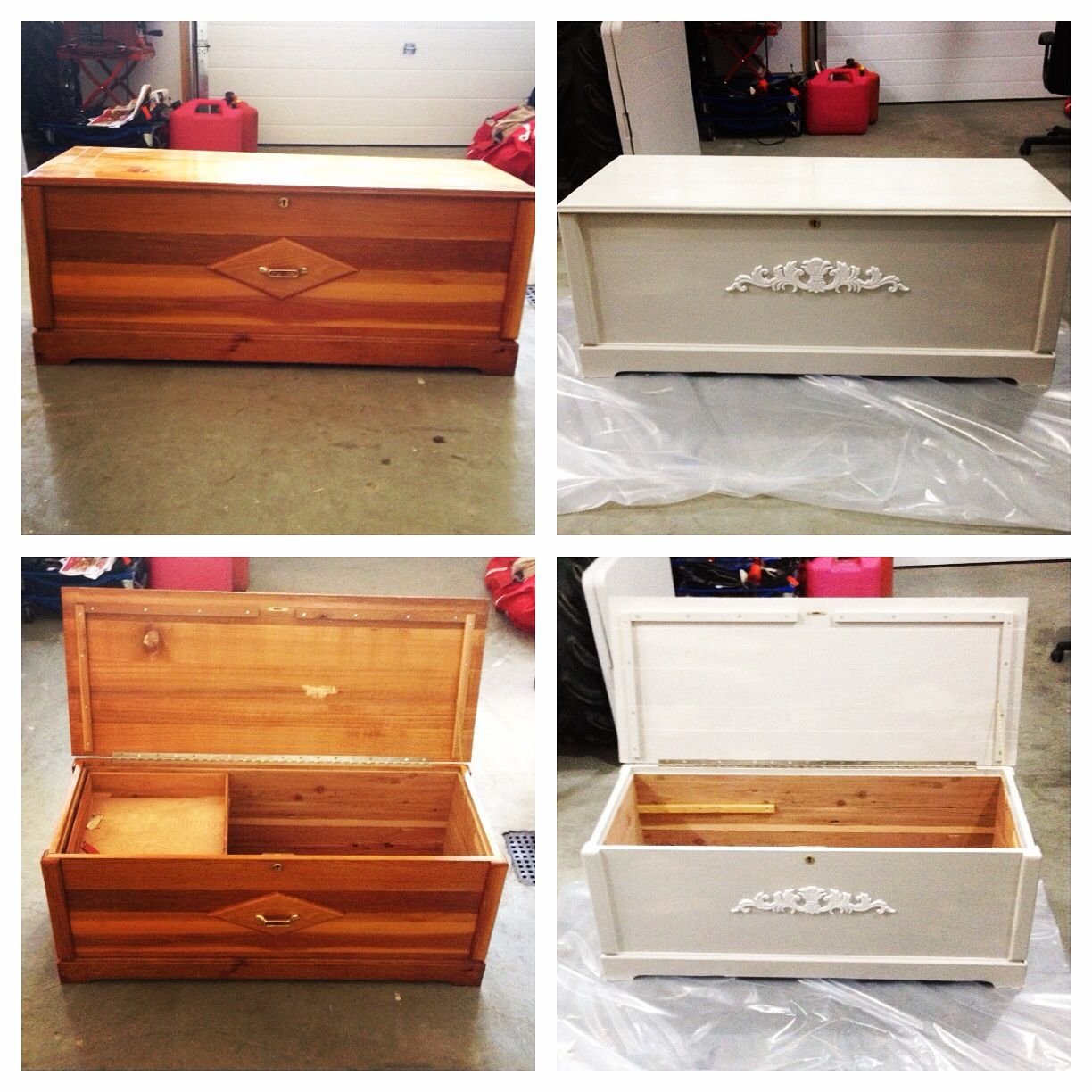 #repurpose #upcycle #restore Cedar Chest I Found At The Restore For $40.