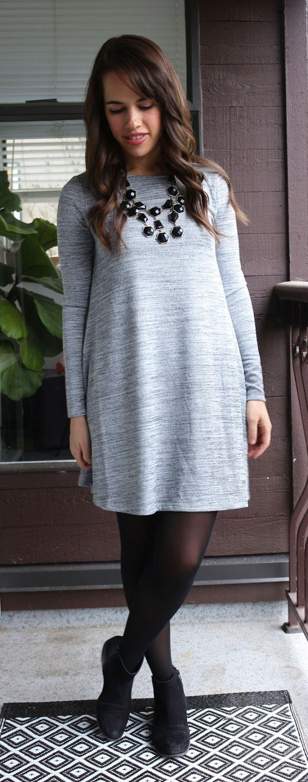 Jules in Flats Swing Dress by Old Navy, Tights by Gap Factory ...