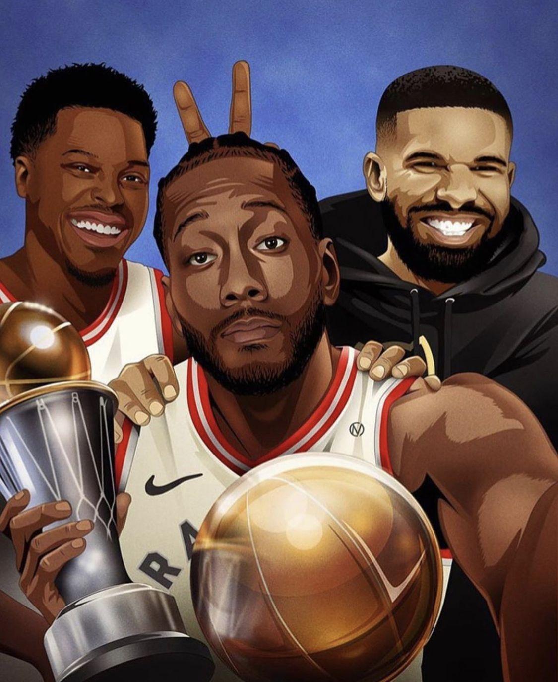KyleLowry Drake KawhiLeonard TorontoRaptors NBA