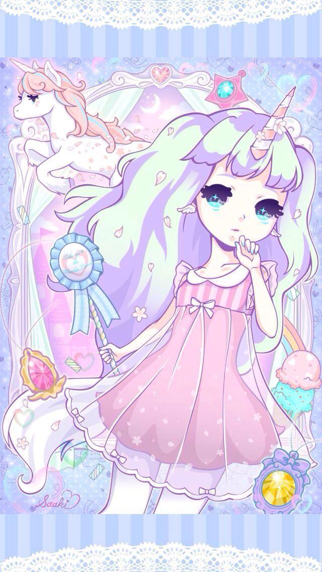 Unicorn Girl Google Search Gadis Animasi Kawaii Animasi
