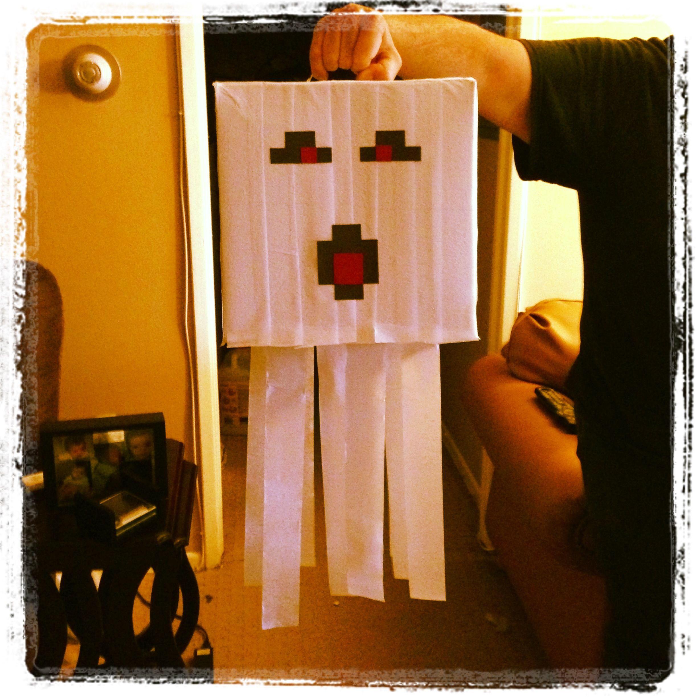 Homemade Minecraft Ghast piñata