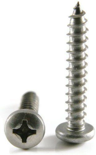 "#8 x 3//4/"" Phillips Flat Head Sheet Metal Screws Stainless Steel Qty 1000"