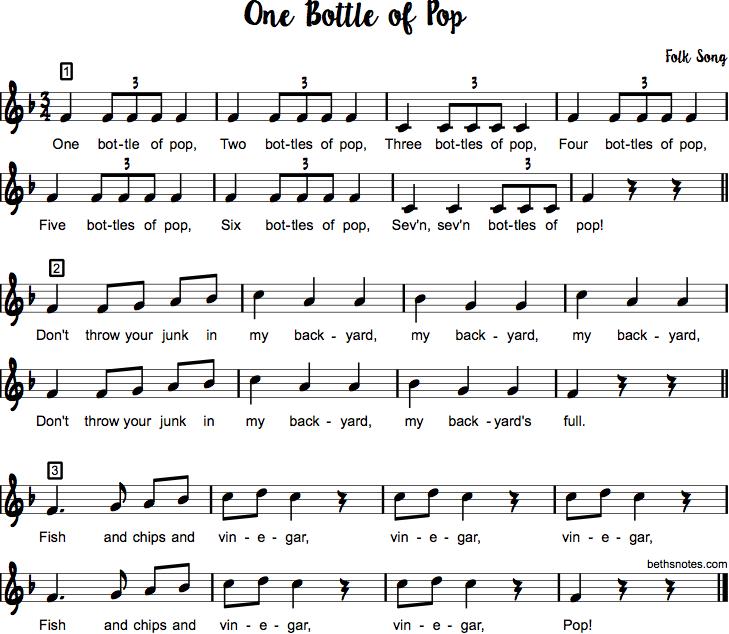 One Bottle of Pop | Classroom ideas | Pop songs, Music sing