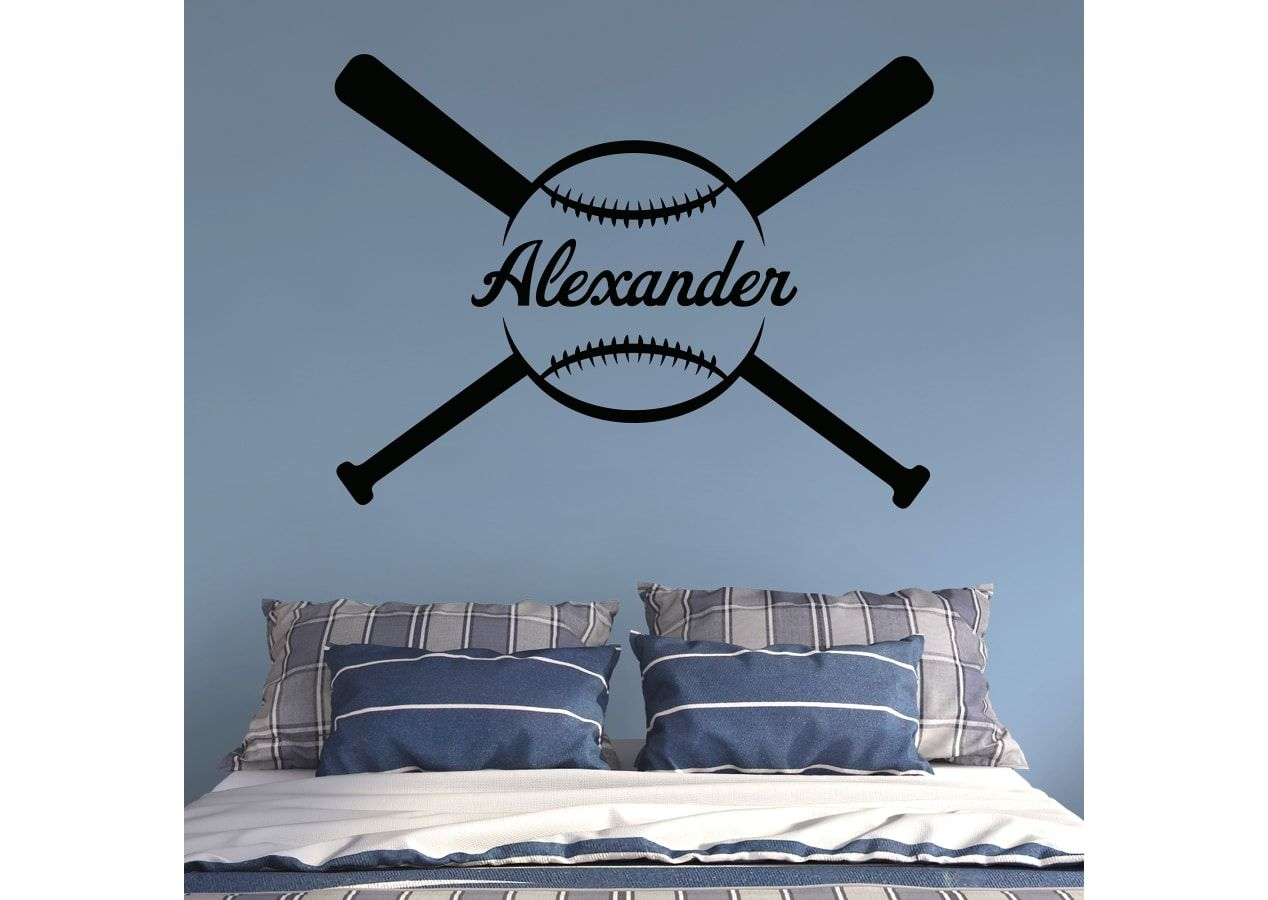 Baseball Bedroom Personalized Baseball Wall Decal 7 Different