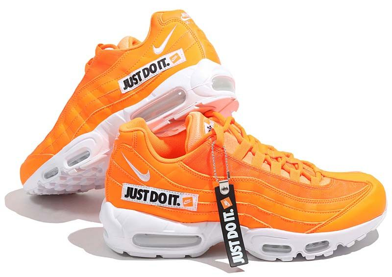 size 40 581af 0d4da NIKE AIR MAX 95 SE JUST DO IT.  TOTAL ORANGE WHITE-BLACK  AV6246-800