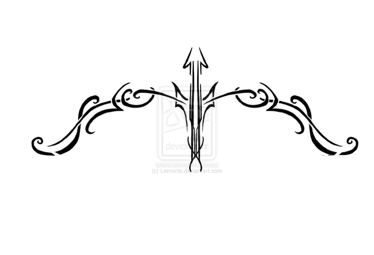 Bow And Arrow Tattoo Sagittarius Tattoo Arrow Tattoos Arrow Tattoo Design
