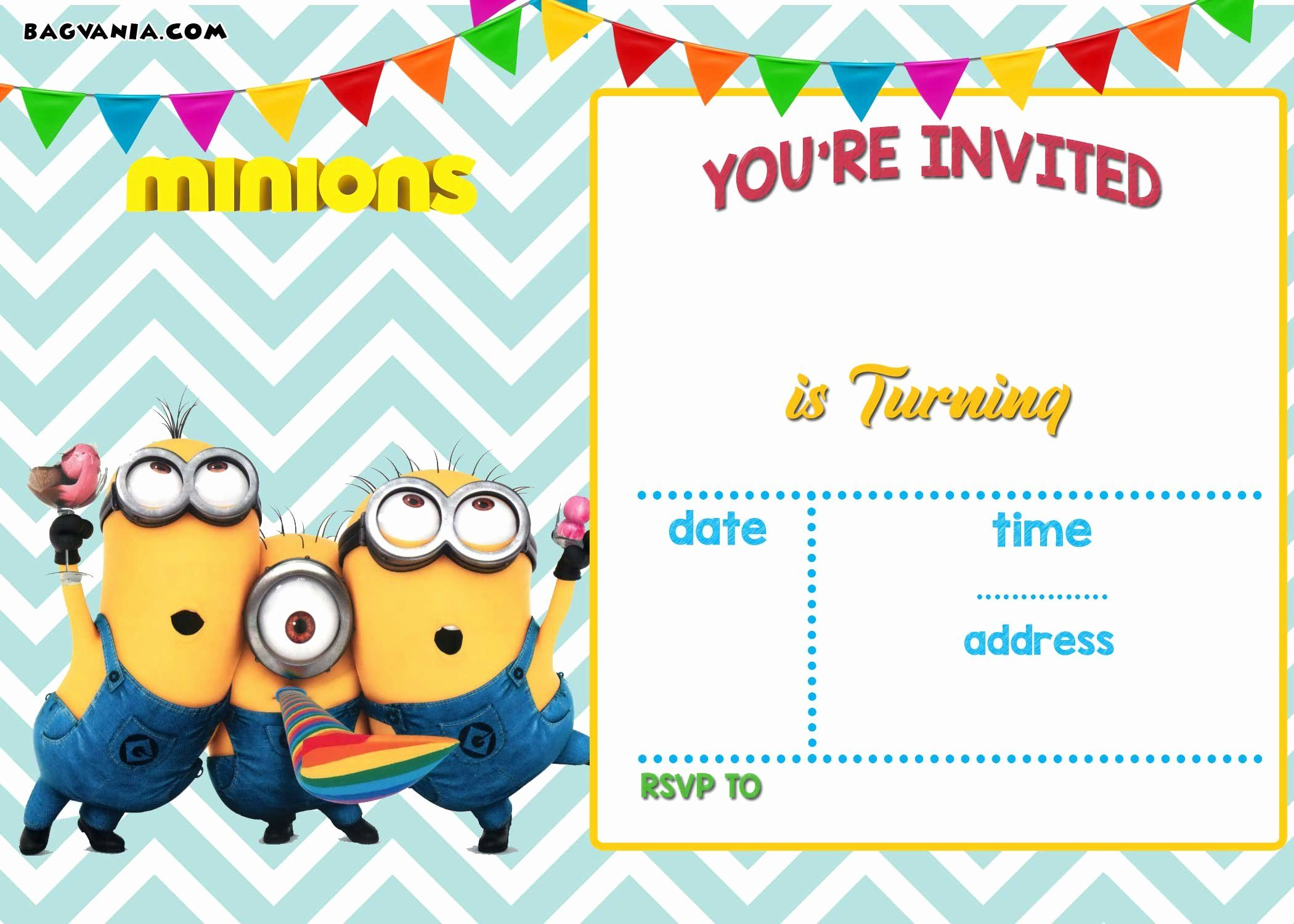 Birthday Invitation Template Printable New Free Printable Minion Minion Birthday Invitations Boy Birthday Party Invitations Birthday Party Invitation Templates