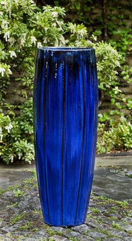 Isleta Planter S 1 Blue Planter Tall Outdoor Planters Tall Planters