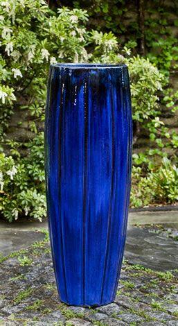 Isleta Planter S 1 Blue Planter Tall Outdoor Planters Blue Garden