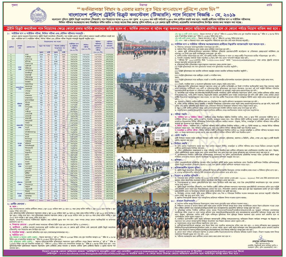 Bangladesh Police Job Circular 2019 Www Police Gov Bd Lekhapora Bd Jobs Job Circular Police Jobs Online Job Applications