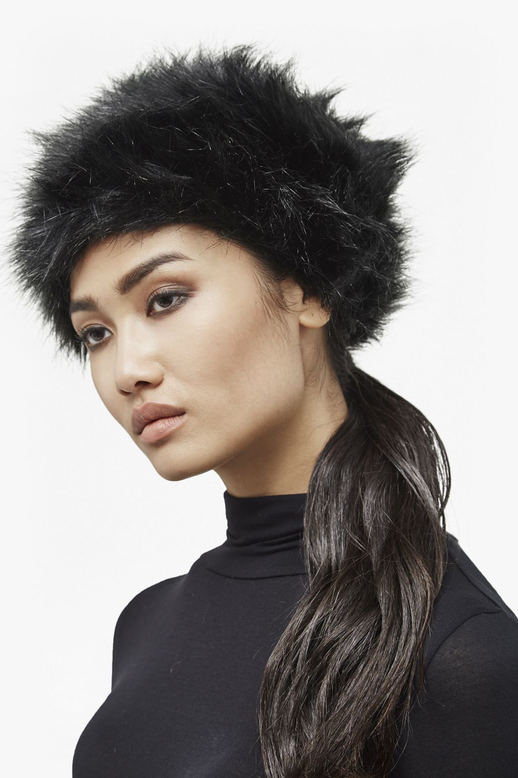 edf5eb724 Annie Textured Faux Fur Hat £40 from French Connection | All black ...
