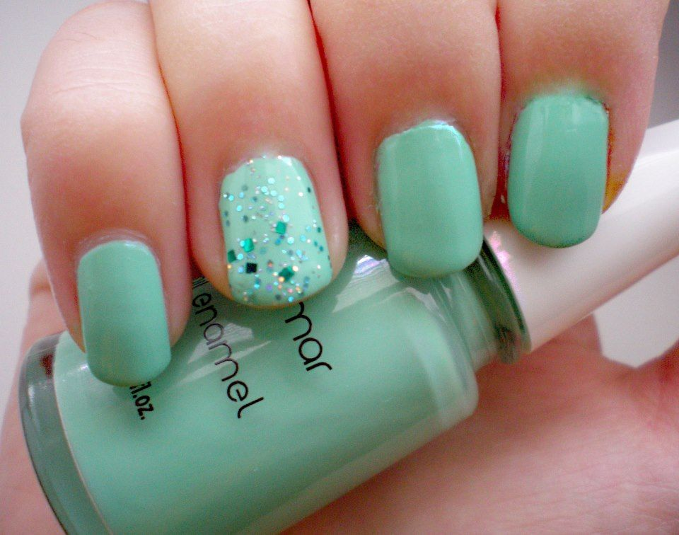 easy green nail designs | Sweet Mint Green Nail Design Ideas With ...
