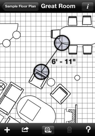 Space Planning App home design interior space planning tool mark on call for iphone