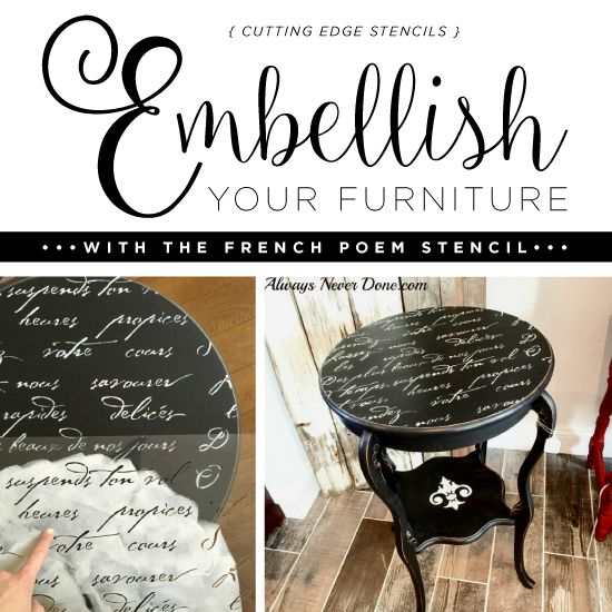 Smoky Pearl Furniture Painting Technique Captiva: Embellish Your Furniture With The French Poem Stencil