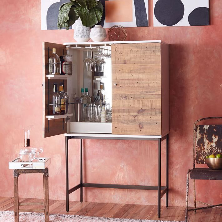 Reclaimed Wood + Lacquer Bar Cabinet | Recent Work | Pinterest ...
