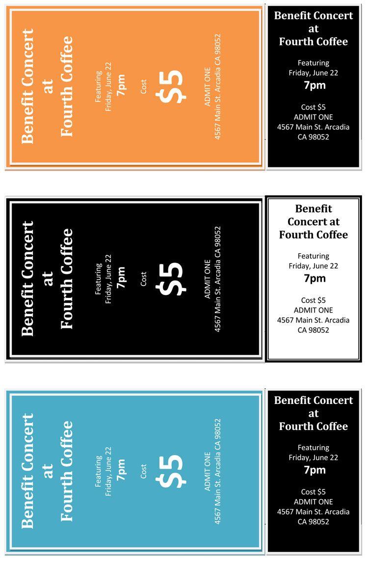 Concert Ticket Template Word Event Ticket Template Ticket Template Printable Tickets