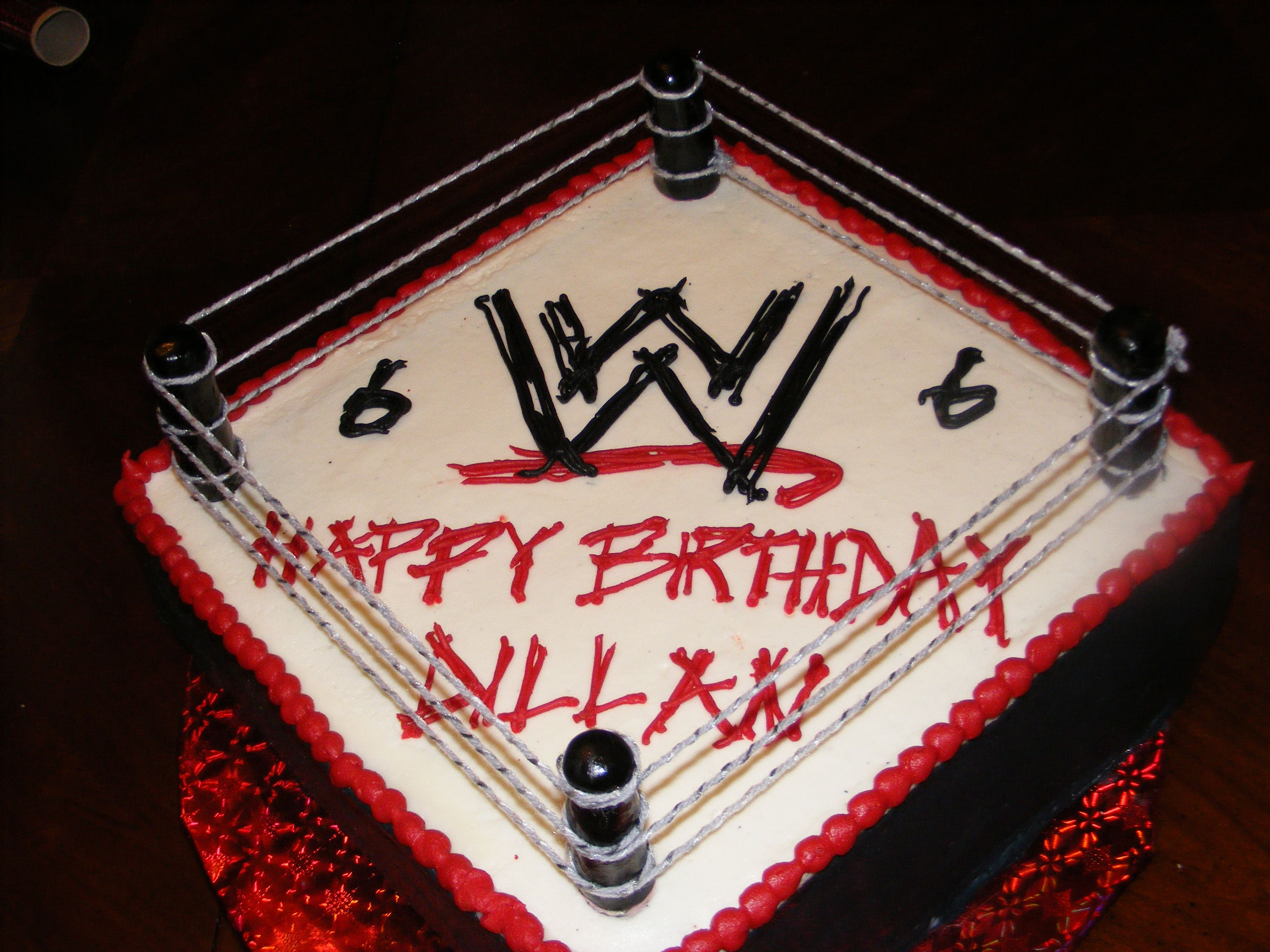 Wwe Cake N This Is What My Jayden Wants For His 7th Birthday N He