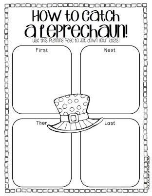 How to Catch a Leprechaun Sequencing Writing Worksheet for