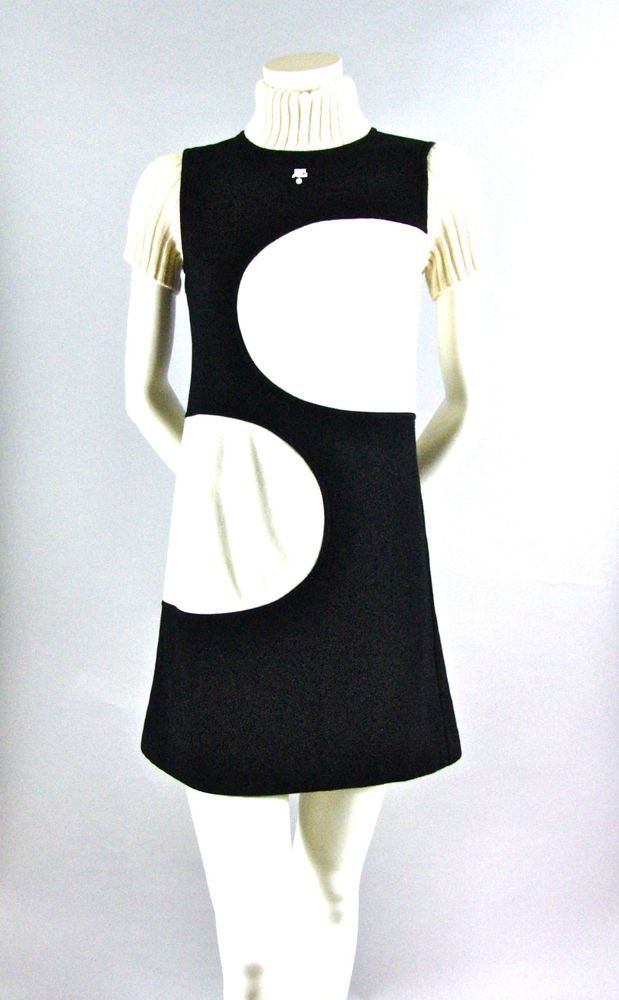 Vintage Courreges 21 Wool And Knit Mini Dress Courreges21 Eage Casual