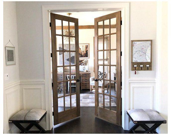 wooden french doors interior
