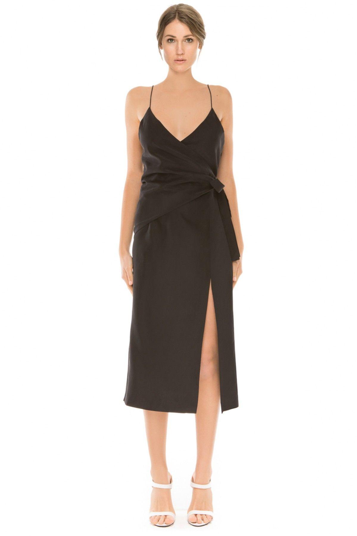 C/MEO COLLECTIVE DON'T WAIT SILK DRESS BLACK - BNKR