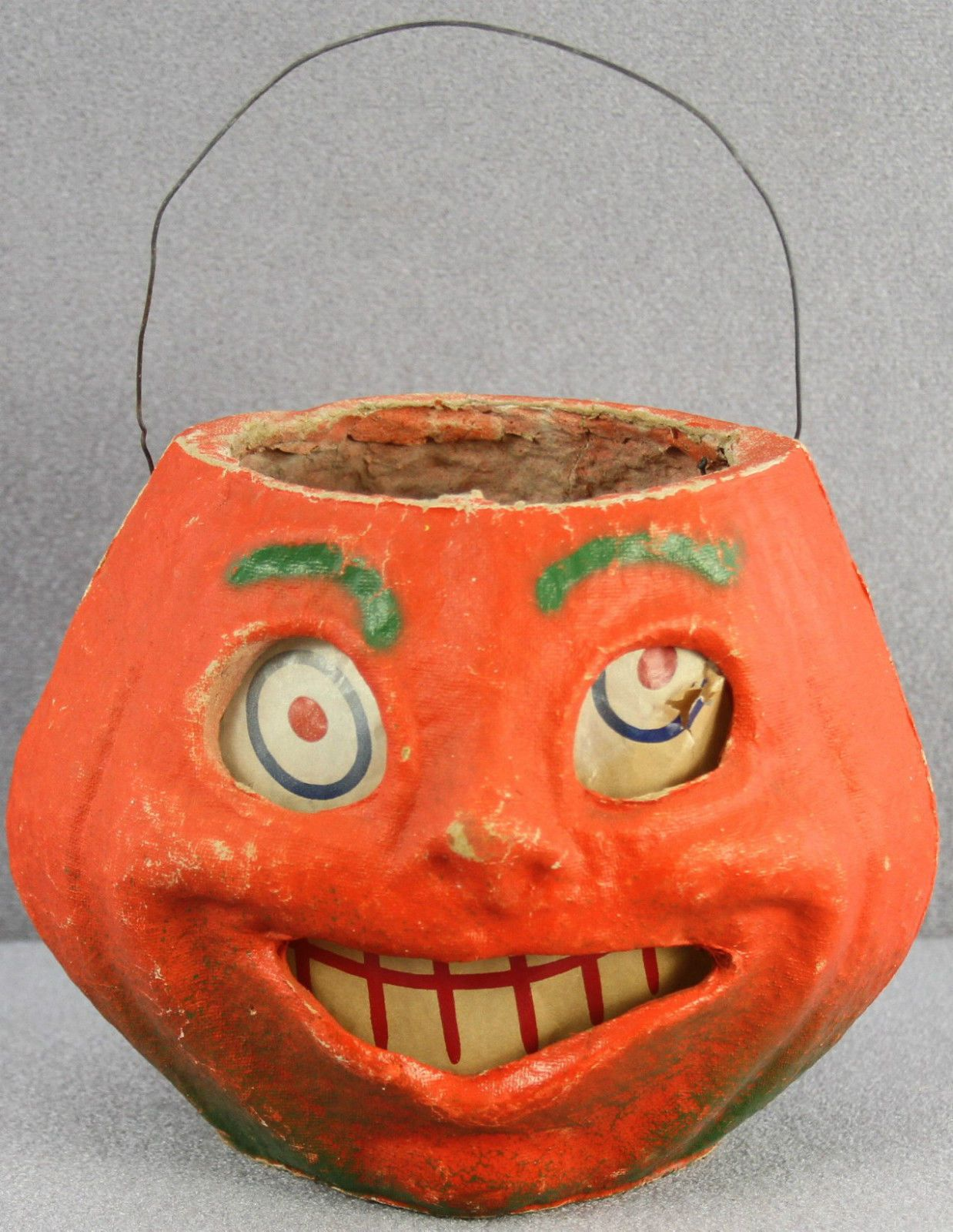 43 vintage halloween pulp paper jack o lantern pumpkin 5 1 2 big toothy grin