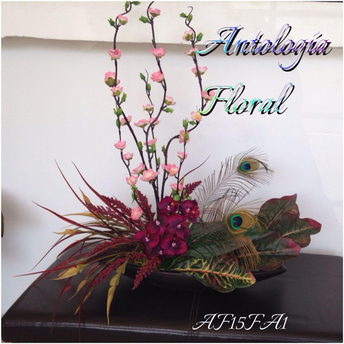 Arreglo de flores artificiales orqu dea rama de durazno - Arreglos florales con flores artificiales ...